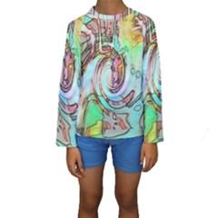 Art Pattern Kids  Long Sleeve Swimwear