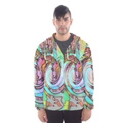 Art Pattern Hooded Wind Breaker (Men)