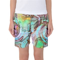 Art Pattern Women s Basketball Shorts