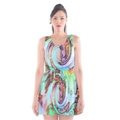 Art Pattern Scoop Neck Skater Dress