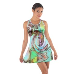 Art Pattern Cotton Racerback Dress