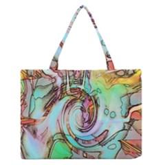 Art Pattern Medium Zipper Tote Bag