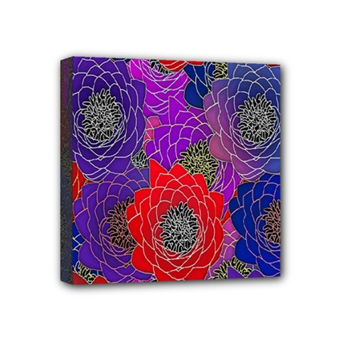 Colorful Background Of Multi Color Floral Pattern Mini Canvas 4  X 4