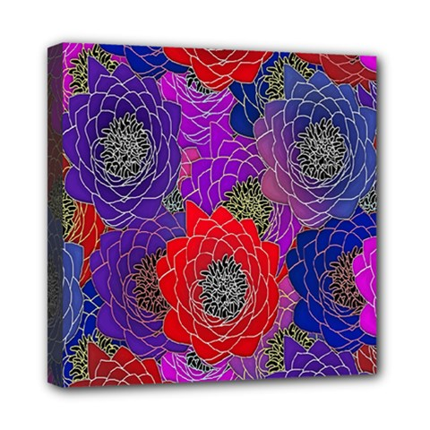 Colorful Background Of Multi Color Floral Pattern Mini Canvas 8  x 8