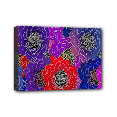 Colorful Background Of Multi Color Floral Pattern Mini Canvas 7  X 5