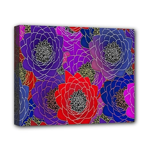 Colorful Background Of Multi Color Floral Pattern Canvas 10  x 8