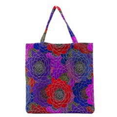 Colorful Background Of Multi Color Floral Pattern Grocery Tote Bag