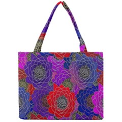 Colorful Background Of Multi Color Floral Pattern Mini Tote Bag