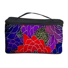 Colorful Background Of Multi Color Floral Pattern Cosmetic Storage Case