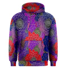 Colorful Background Of Multi Color Floral Pattern Men s Pullover Hoodie