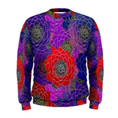 Colorful Background Of Multi Color Floral Pattern Men s Sweatshirt