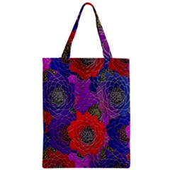 Colorful Background Of Multi Color Floral Pattern Zipper Classic Tote Bag