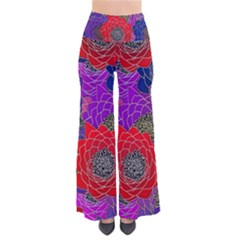 Colorful Background Of Multi Color Floral Pattern Pants