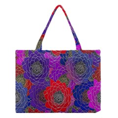 Colorful Background Of Multi Color Floral Pattern Medium Tote Bag