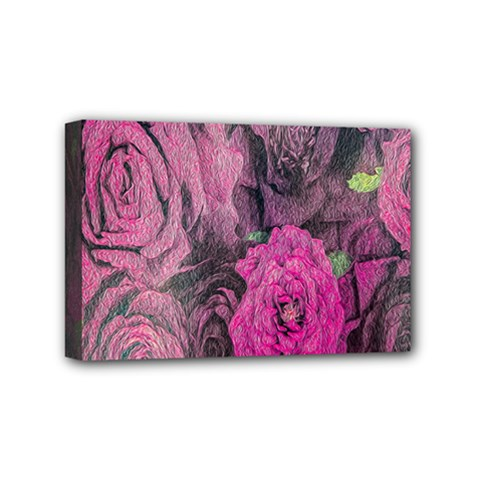 Oil Painting Flowers Background Mini Canvas 6  x 4