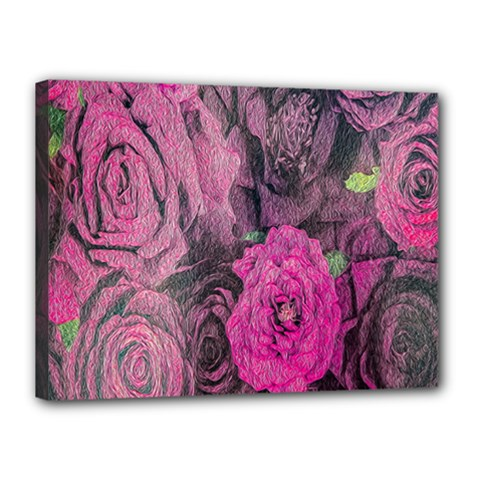Oil Painting Flowers Background Canvas 16  X 12