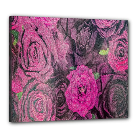 Oil Painting Flowers Background Canvas 24  X 20