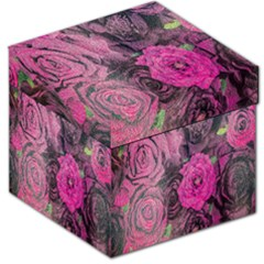 Oil Painting Flowers Background Storage Stool 12