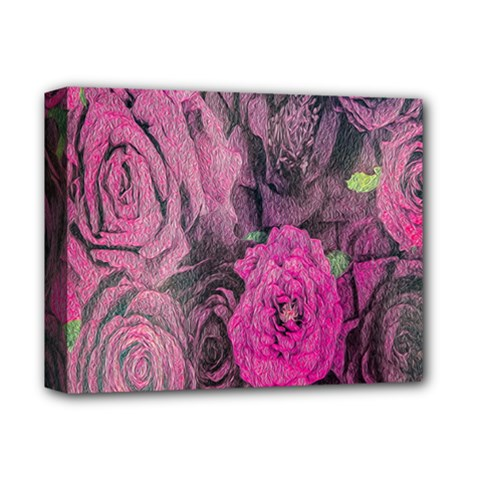 Oil Painting Flowers Background Deluxe Canvas 14  x 11