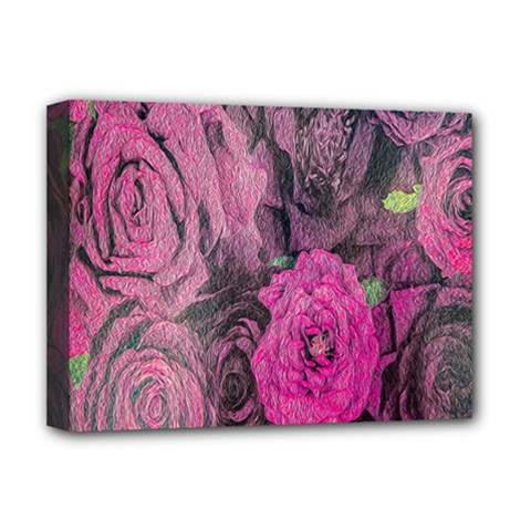 Oil Painting Flowers Background Deluxe Canvas 16  X 12