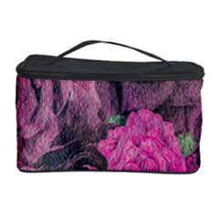 Oil Painting Flowers Background Cosmetic Storage Case