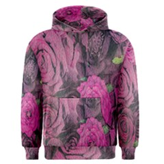 Oil Painting Flowers Background Men s Pullover Hoodie