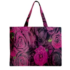 Oil Painting Flowers Background Zipper Mini Tote Bag