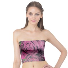 Oil Painting Flowers Background Tube Top