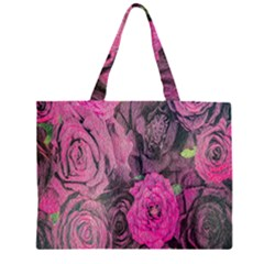 Oil Painting Flowers Background Large Tote Bag