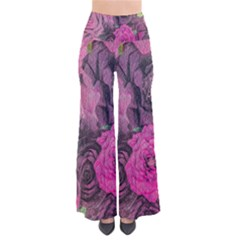 Oil Painting Flowers Background Pants