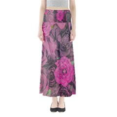 Oil Painting Flowers Background Maxi Skirts