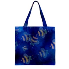 Seamless Bee Tile Cartoon Tilable Design Grocery Tote Bag