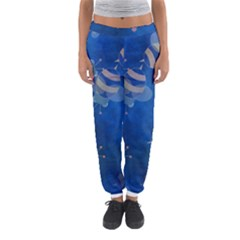 Seamless Bee Tile Cartoon Tilable Design Women s Jogger Sweatpants