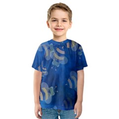 Seamless Bee Tile Cartoon Tilable Design Kids  Sport Mesh Tee