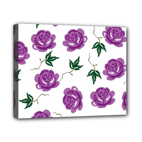 Purple Roses Pattern Wallpaper Background Seamless Design Illustration Canvas 10  X 8