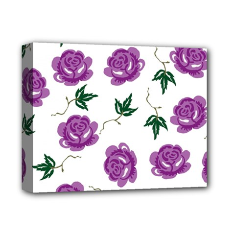 Purple Roses Pattern Wallpaper Background Seamless Design Illustration Deluxe Canvas 14  X 11