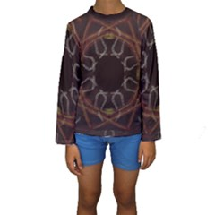 Digitally Created Seamless Pattern Kids  Long Sleeve Swimwear