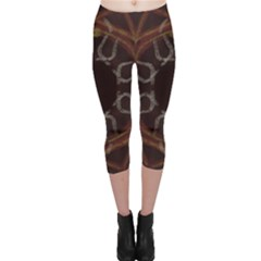 Digitally Created Seamless Pattern Capri Leggings