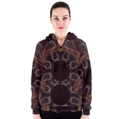 Digitally Created Seamless Pattern Women s Zipper Hoodie