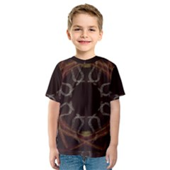 Digitally Created Seamless Pattern Kids  Sport Mesh Tee