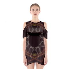 Digitally Created Seamless Pattern Shoulder Cutout One Piece