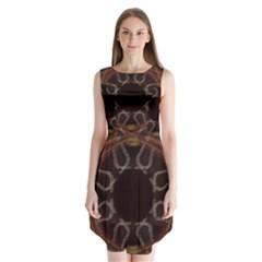 Digitally Created Seamless Pattern Sleeveless Chiffon Dress