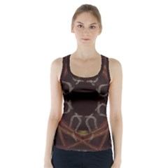 Digitally Created Seamless Pattern Racer Back Sports Top