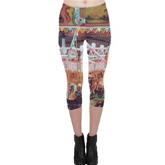 Carousel Lights Capri Leggings