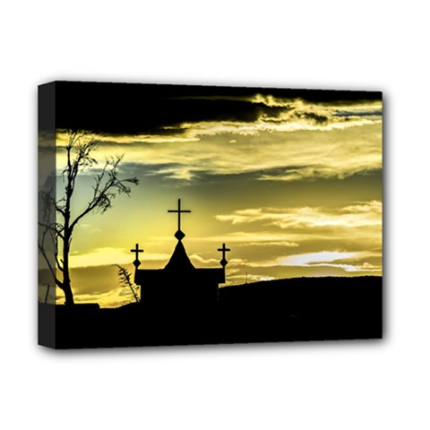Graves At Side Of Road In Santa Cruz, Argentina Deluxe Canvas 16  x 12