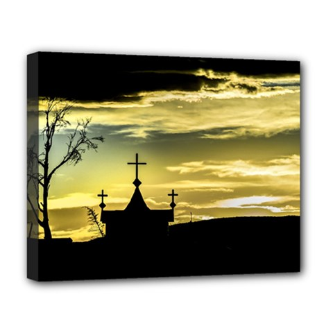 Graves At Side Of Road In Santa Cruz, Argentina Deluxe Canvas 20  x 16