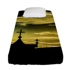 Graves At Side Of Road In Santa Cruz, Argentina Fitted Sheet (Single Size)