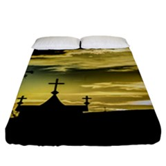 Graves At Side Of Road In Santa Cruz, Argentina Fitted Sheet (California King Size)