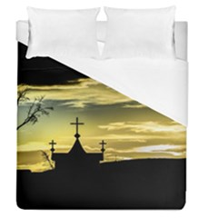 Graves At Side Of Road In Santa Cruz, Argentina Duvet Cover (Queen Size)