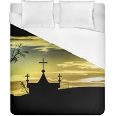 Graves At Side Of Road In Santa Cruz, Argentina Duvet Cover (California King Size)